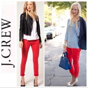 💕SALE💕 J.Crew Red Matchstick Jeans